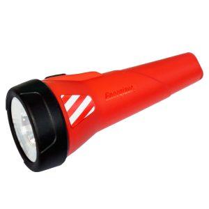 Rode waterproof zaklamp voor waterbevalling.